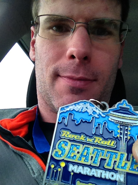Seattle marathon done