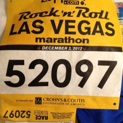 EJ Scott's Last and 12th Marathon in 2012 in Las Vegas
