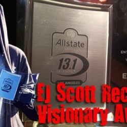 EJ Scott Receives Visionary Award at Los Angeles AllState Marathon