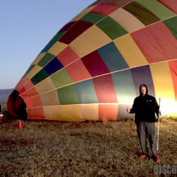 EJ takes rides on a Hot Air Balloon in South Africa
