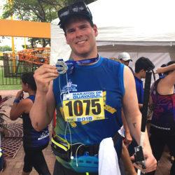 EJ finishes Guayaquil Ecuador Half Marathon